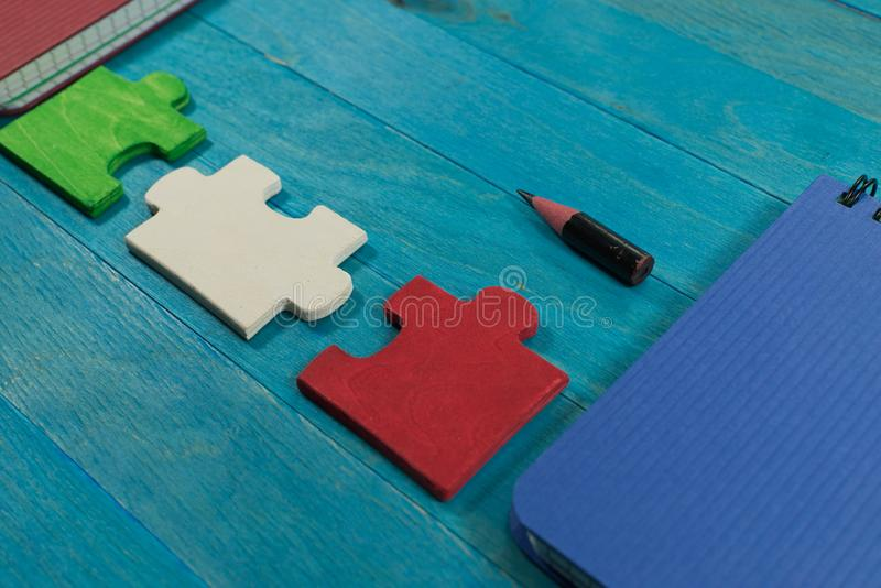 Problem solving and teamwork concept royalty free stock images