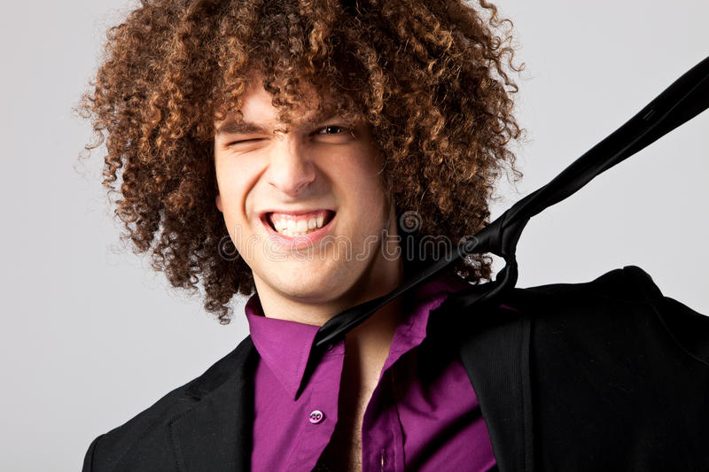 Download Problem with tie stock image. Image of hair, young, funny - 19473955