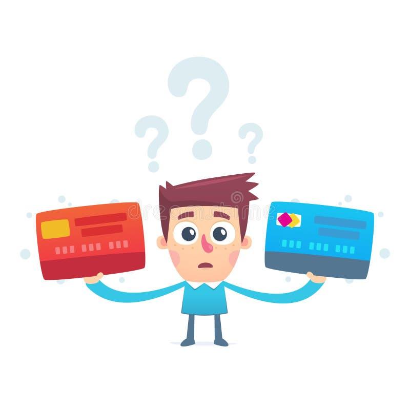 Problem wybierać kredytową kartę royalty ilustracja