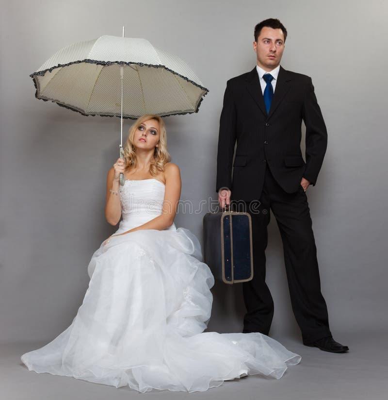Problema casado de la pareja, discordia de la depresión de la indiferencia imagen de archivo libre de regalías