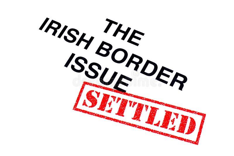 Problema de frontera irlandés establecido stock de ilustración