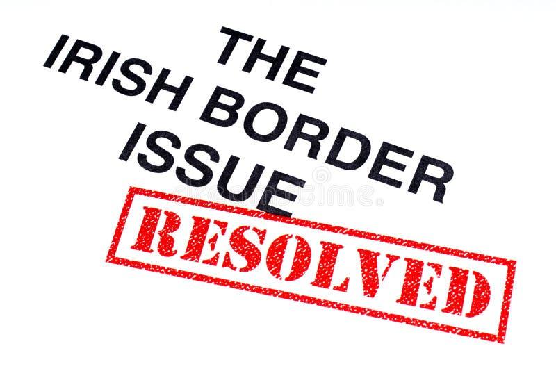 Problema de frontera irlandés resuelto stock de ilustración