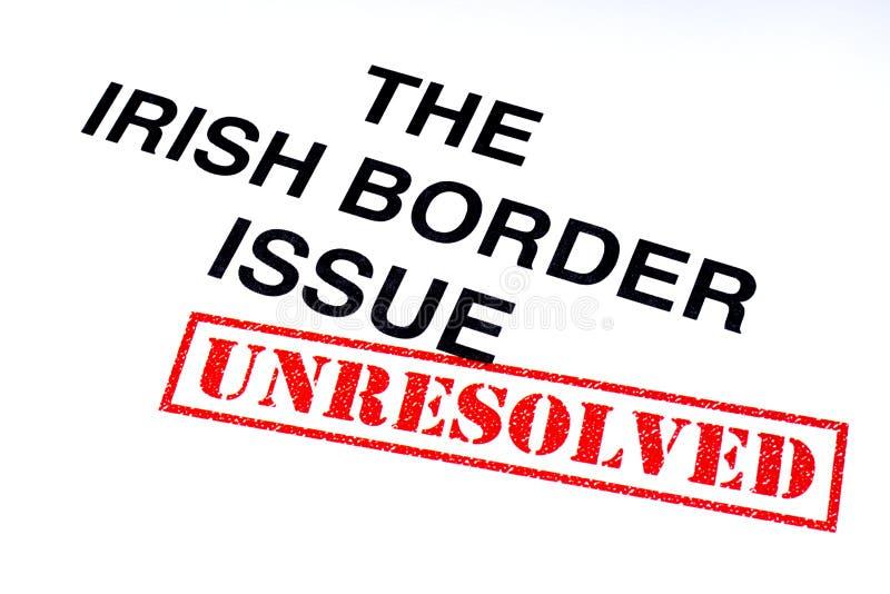 Problema de frontera irlandés sin resolver stock de ilustración