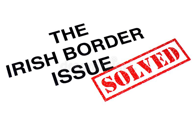 Problema de frontera irlandés solucionado ilustración del vector