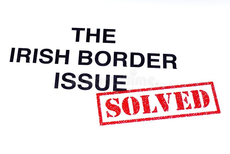 Problema de frontera irlandés solucionado stock de ilustración