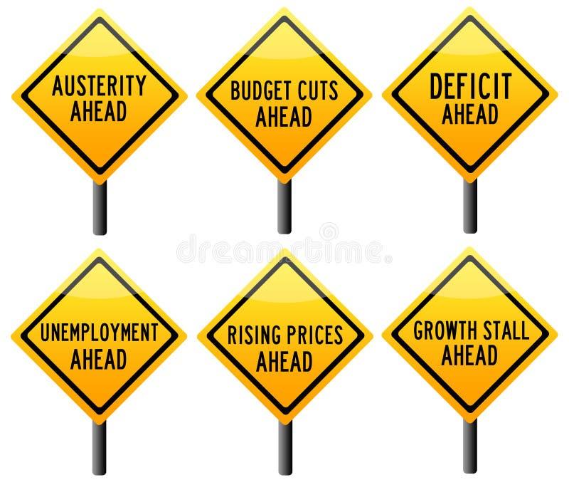 Problema de la economía stock de ilustración