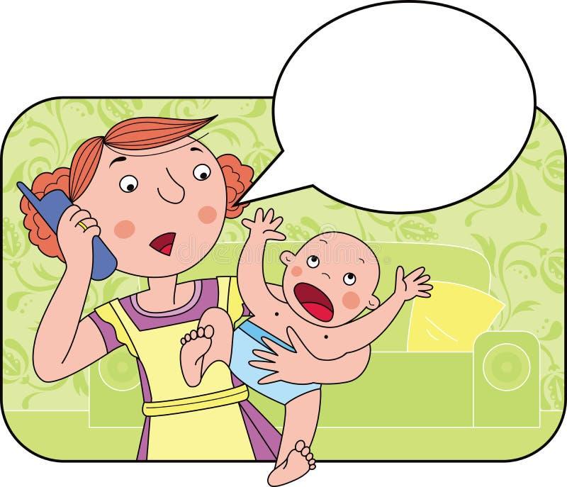 Problema de la madre ilustración del vector