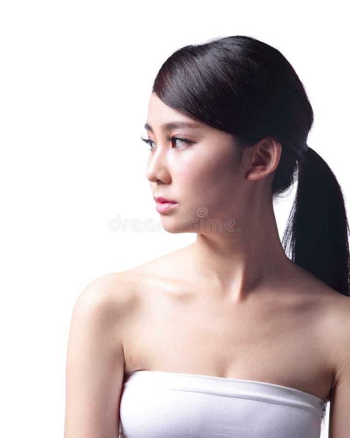 Problema de piel de la cara de la mujer imagenes de archivo