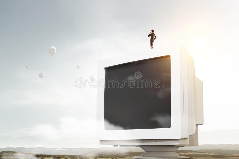 Problema del apego de la televisión imagen de archivo libre de regalías
