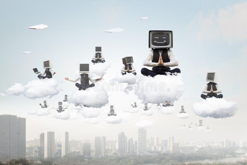 Problema del apego de la televisión Técnicas mixtas imagenes de archivo