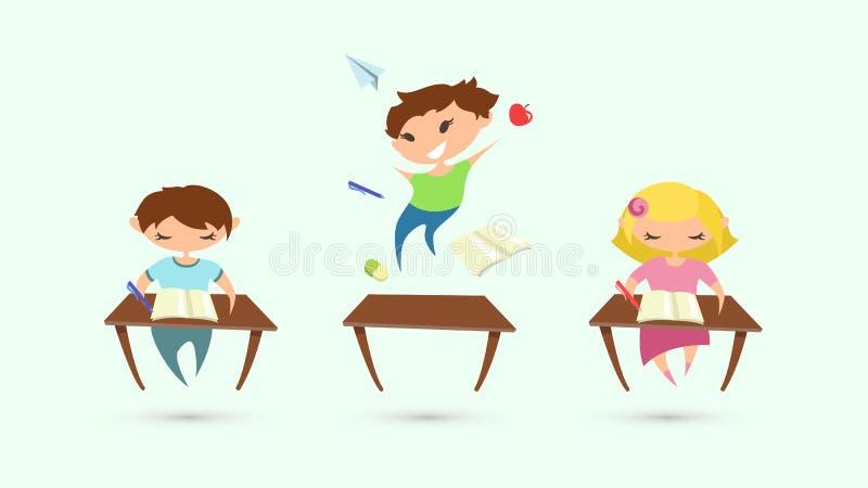 Problema del desorden de la hiperactividad del déficit de atención de los niños Vecto libre illustration