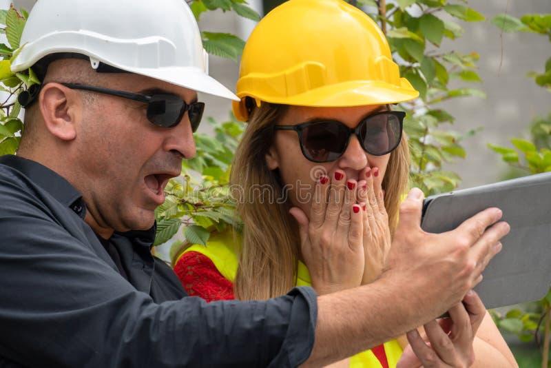 Problema del lavoro sul cantiere fotografia stock
