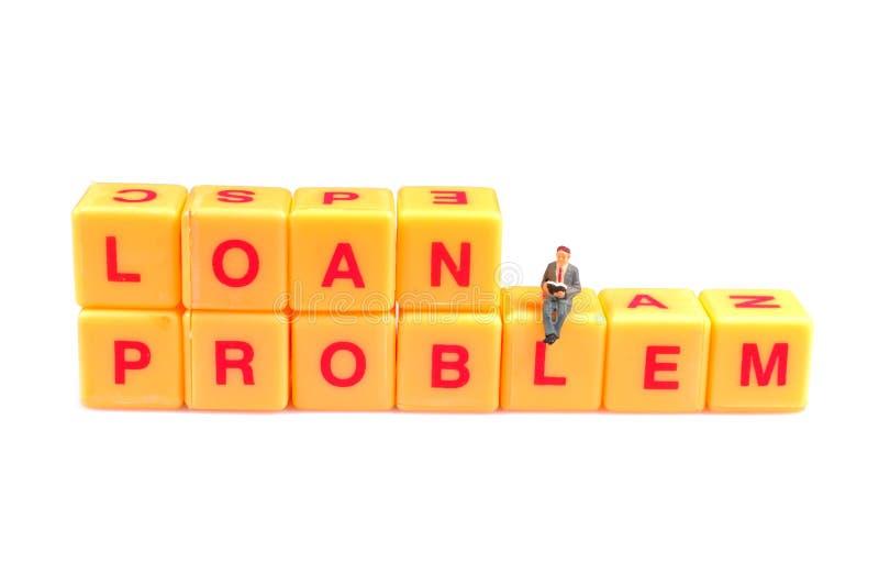 Problema del préstamo foto de archivo libre de regalías