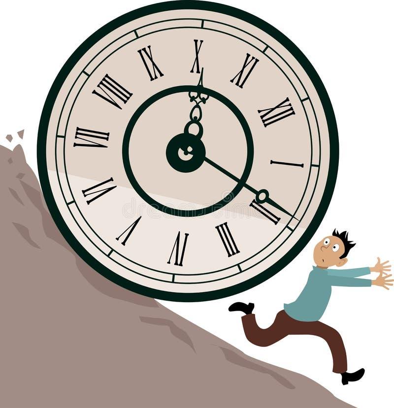 Problema di gestione di tempo illustrazione vettoriale