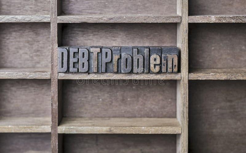 Problema di legno di debito della lettera fotografia stock