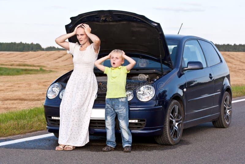 Problema do carro imagem de stock royalty free