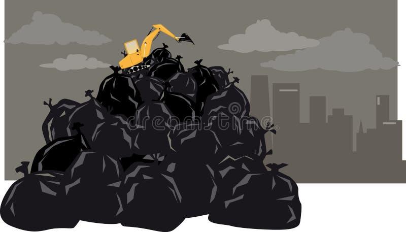 Problema do lixo ilustração royalty free