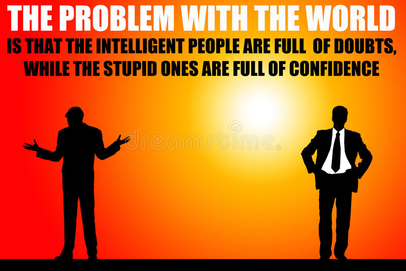 Problema do mundo ilustração do vetor