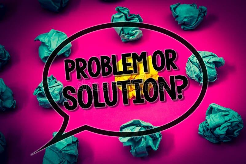 Problema do texto da escrita ou pergunta da solução O significado do conceito pensa resolve a análise que resolve o sur esmeralda ilustração do vetor
