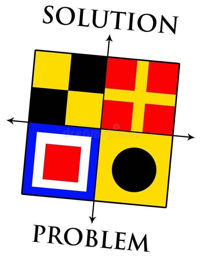 Problema e solução ilustração do vetor