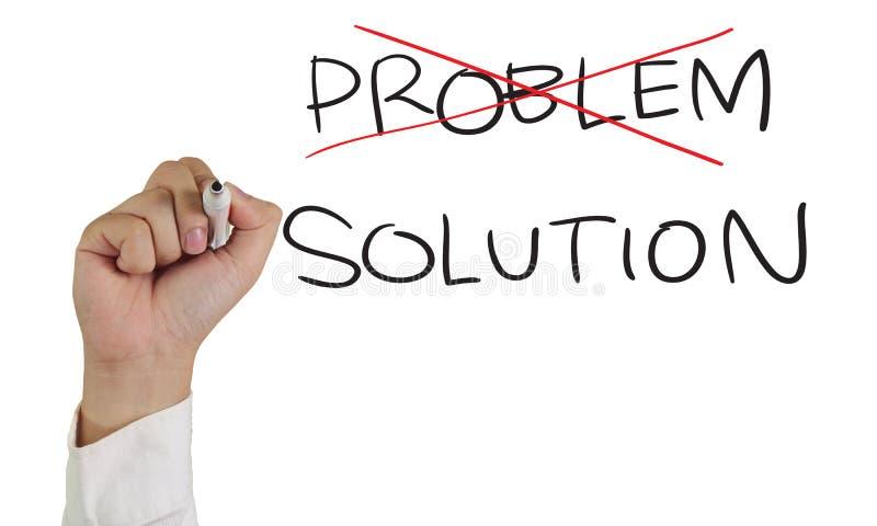 Problema e soluzione fotografia stock