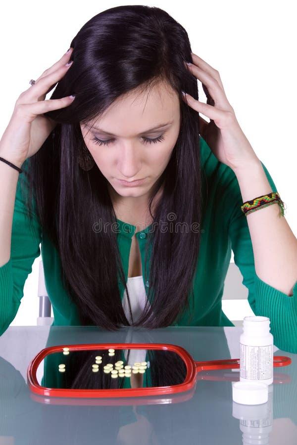 Problema teenager di tossicodipendenza immagine stock