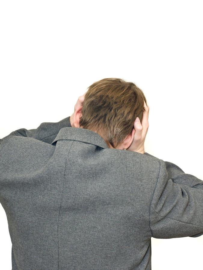Problema - traseiro de homem de negócios deprimido fotos de stock