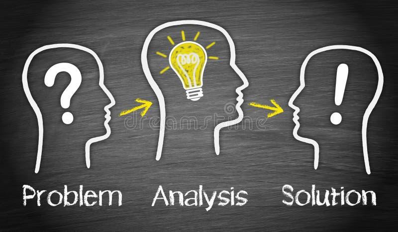Problemanalys och lösning royaltyfria bilder