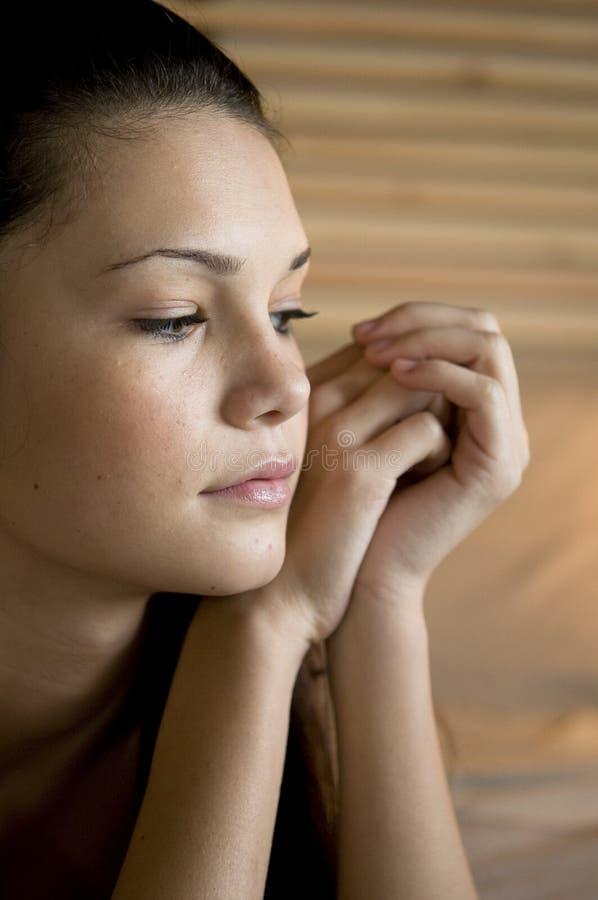 Problemas adolescentes ou tristeza imagens de stock royalty free