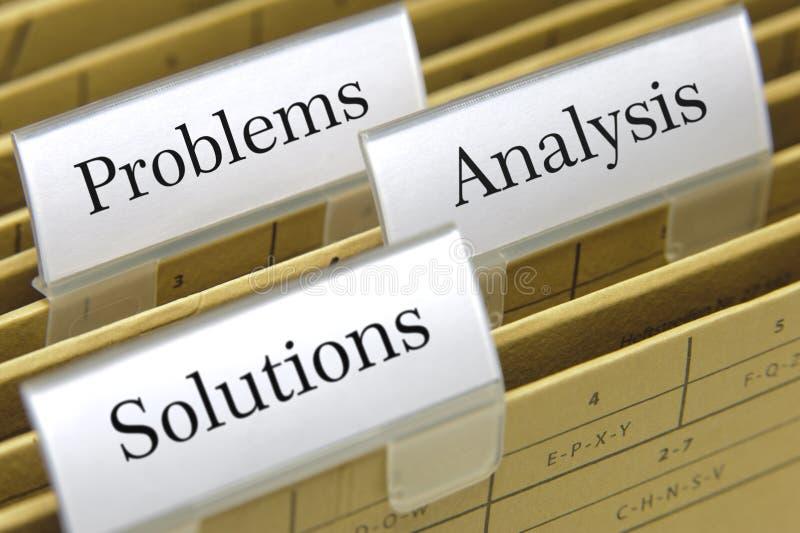 Problemas, análisis y soluciones imagenes de archivo