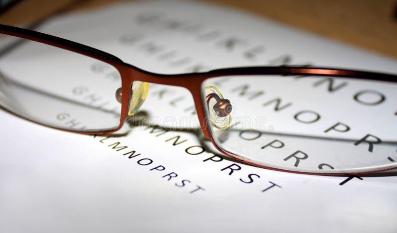 Problemas com visão quando nós leitura imagens de stock royalty free