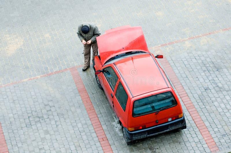 Problemas con el coche imagen de archivo