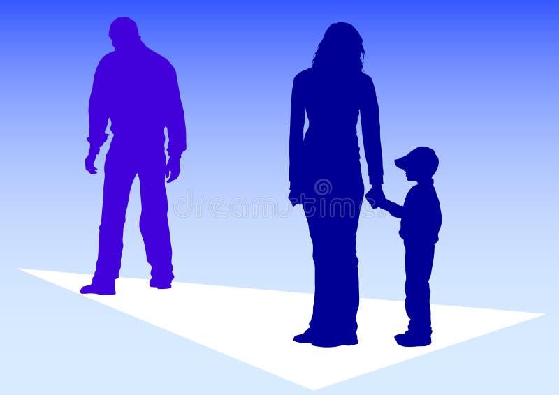 Problemas da família ilustração stock