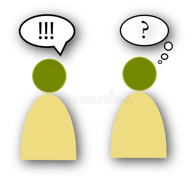 Problemas de comunicação ilustração royalty free