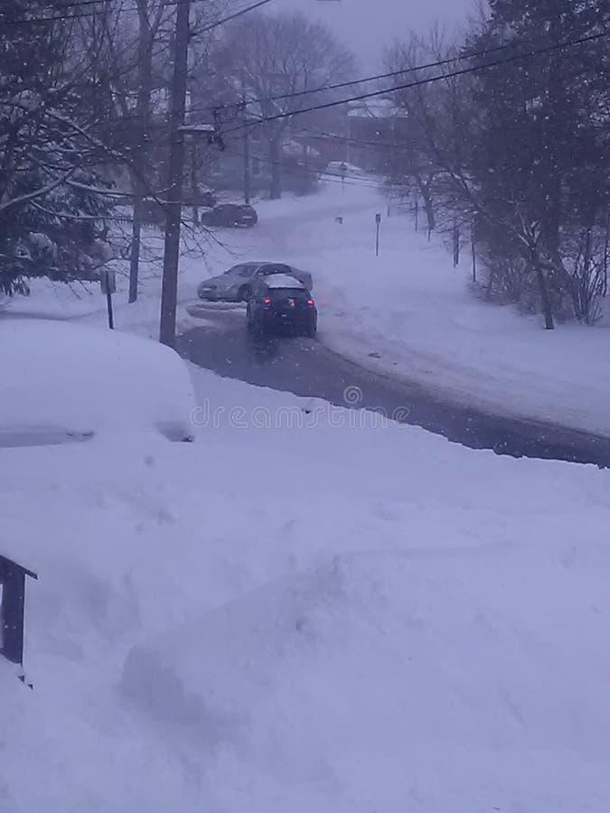 Problemas de la nieve foto de archivo libre de regalías