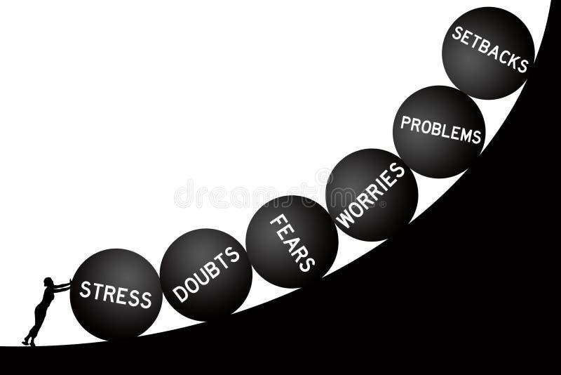 Problemas de la vida ilustración del vector