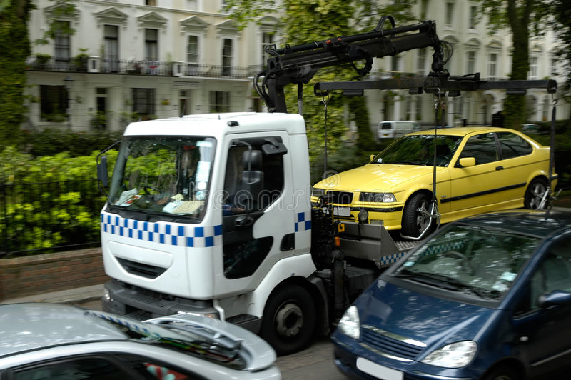 Problemas del estacionamiento foto de archivo