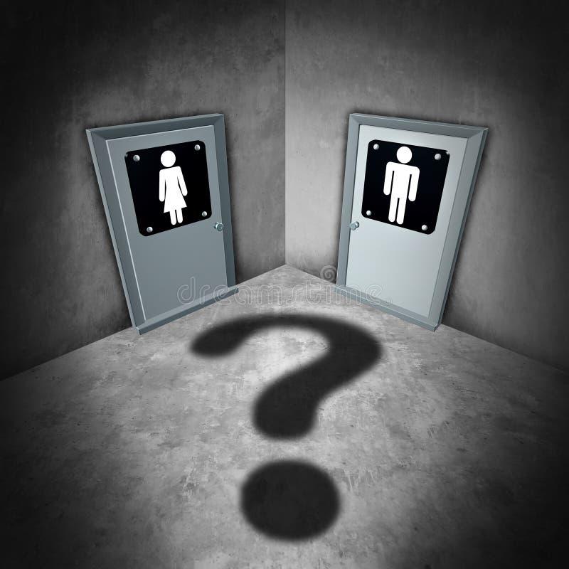 Problemas del transexual ilustración del vector