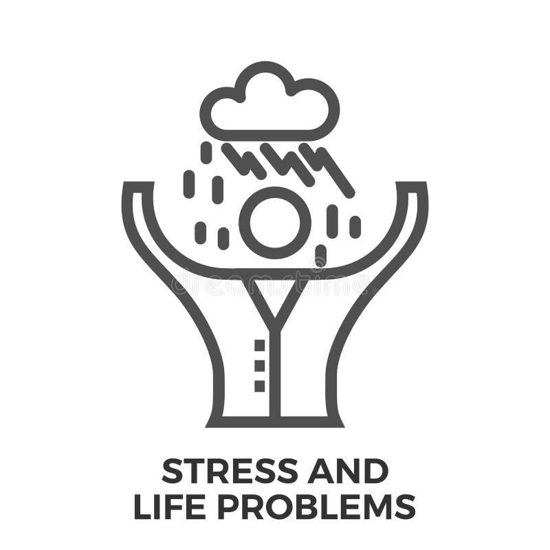 Problemas do esforço e da vida ilustração do vetor