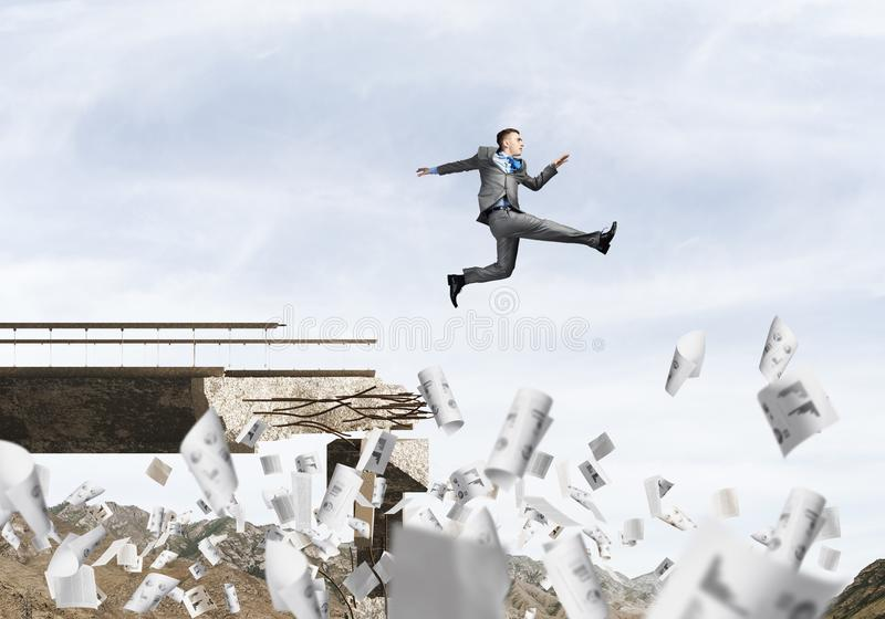 Problemas e dificuldades que superam o conceito imagem de stock