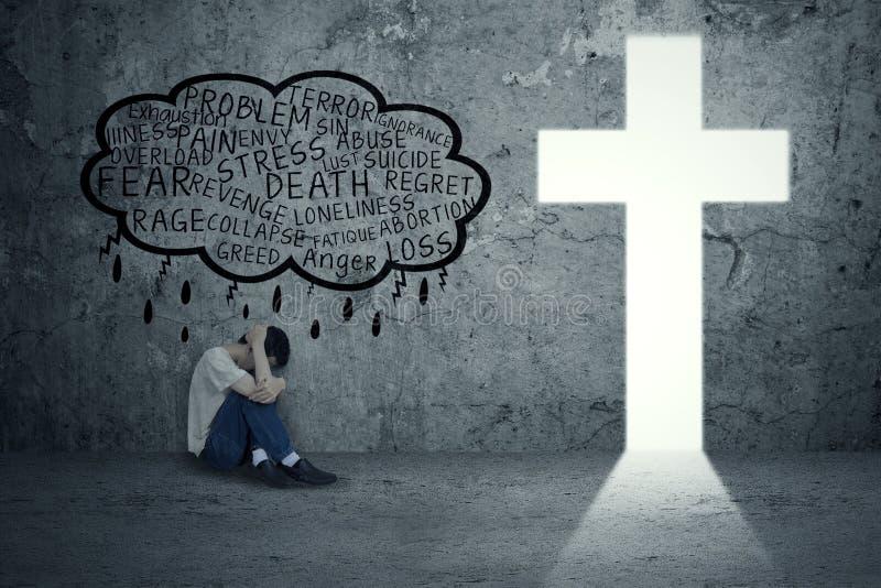 Problemas espirituales imagen de archivo libre de regalías