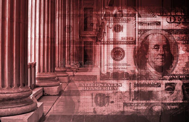 Problemas financeiros ilustração royalty free