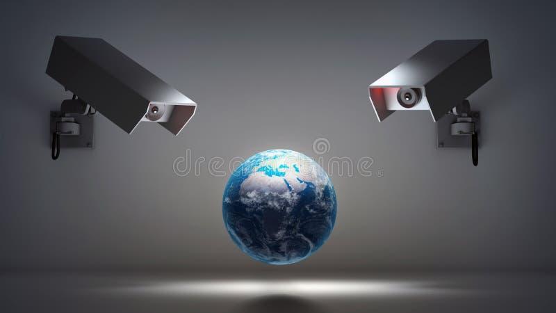 Problemas video de la vigilancia y de la privacidad fotos de archivo