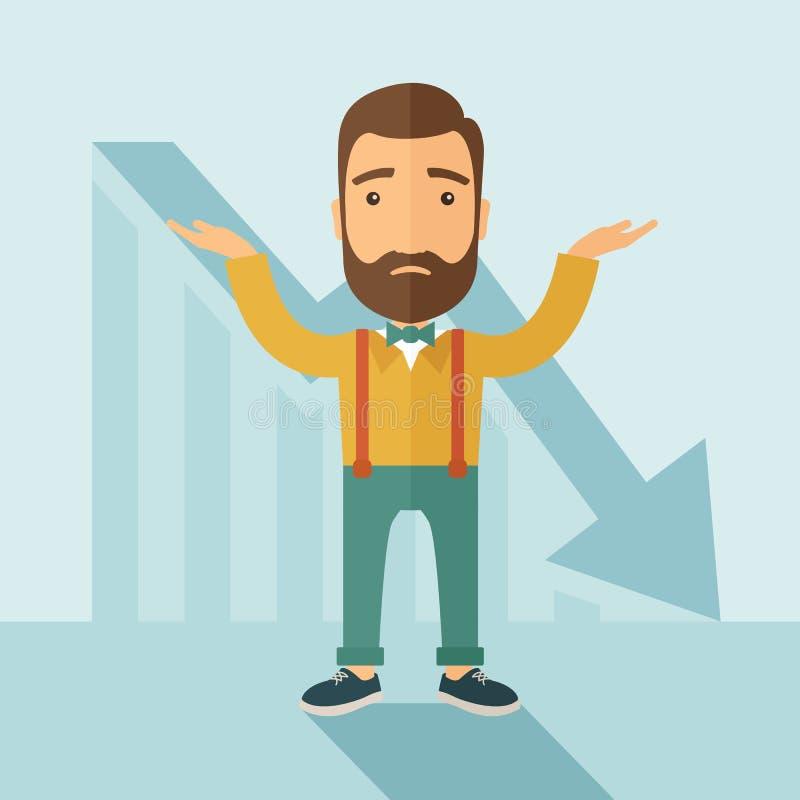 Problemas y quiebra de negocio ilustración del vector