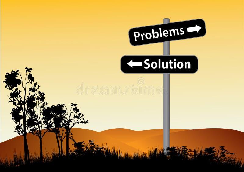 Probleme oder LösungsVerkehrsschild stock abbildung