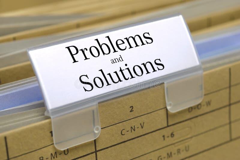 Probleme und Lösungen lizenzfreie stockbilder