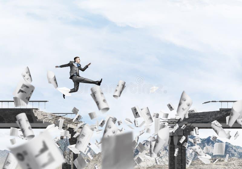 Problemen en moeilijkheden die concept overwinnen royalty-vrije stock afbeelding