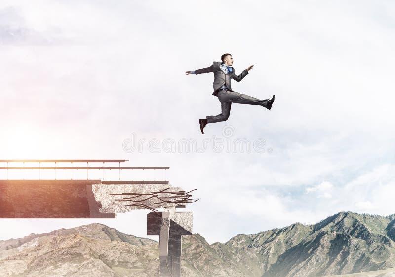 Problemen en moeilijkheden die concept overwinnen stock illustratie