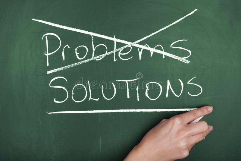 PROBLEMENoplossingen stock afbeelding