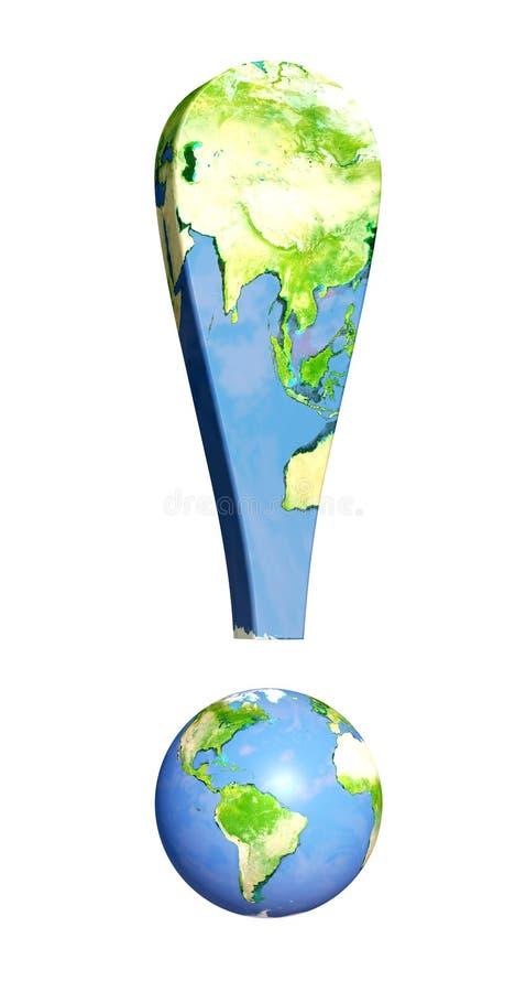 Problemi di ecologia illustrazione di stock